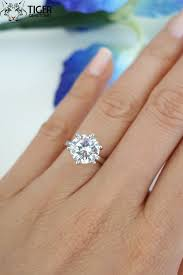 3 engagement ring 3 carat 6 prong solitaire engagement ring promise ring