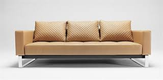 Beds That Look Like Sofas by Cassius Deluxe In Camel Leather Textile Design By Per Weiss From