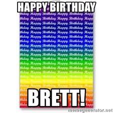 Lesbian Birthday Meme - happy birthday brett lgbt lesbian birthday meme generator