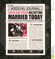 Wedding Invitation Card Maker Software Free Download Newspaper Wedding Invitation Design Template Stock Vector Image