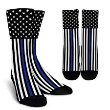 Thin Blue Line Flag Thin Blue Line Flag Socks U2013 Printedkicks