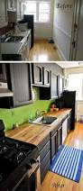before and after 25 budget friendly kitchen makeover ideas hative before after 2 kitchens overhauled with bold color painted cabinets