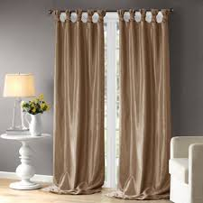 Blue And Beige Curtains Blue And Taupe Curtains Wayfair