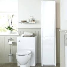 free standing bathroom storage tall storage unit white gloss image