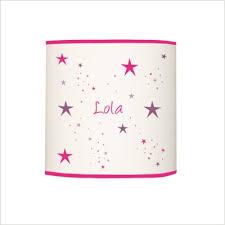 abat jour chambre fille abat jour étoiles magique fushia et violet cylindrique lili pouce