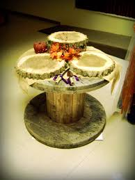 Wire Spool Table Handcrafted Occasions Rustic Wooden Wire Spool Cake Table