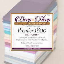Softest Affordable Sheets by Split Queen Deep Sleep 1800 Thread Count 5 Pc Sheet Set Dual