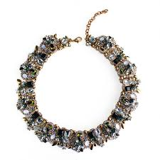 crystal collar statement necklace images Zenia mulicolor borealis holographic cluster statement necklace jpg