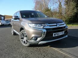 mitsubishi outlander 7 seater 2015 mitsubishi outlander gx3 auto sat nav u0026 leather granite brown