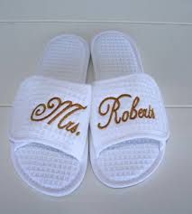 order wedding slippers custom embroidery brides new name custom