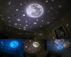 Rotating Night Light Projector Colorful Magic Lighting Planet Earth Stars Intelligent Dimmable