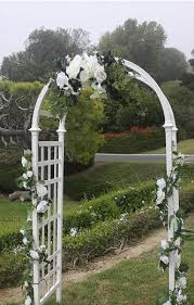 wedding arches decorating ideas wedding arch decorations ideas white lattice arch shown in