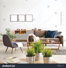 Livingroom Sofa Modern Living Room Sofa Armchair Vase Stock Photo 381906610