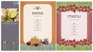 bunch ideas of free restaurant menu templates for mac in