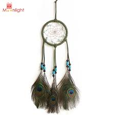 Feather Home Decor Birthday Gift New White Lovely Indian Feather Dream Catcher 5