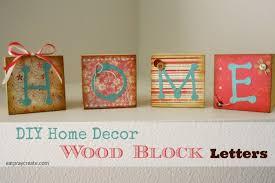 Decorative Letter Blocks For Home Diy Home Décor Wood Blocks Eat Pray Create