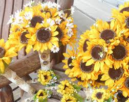 sunflower wedding bouquet sunflower bouquet etsy