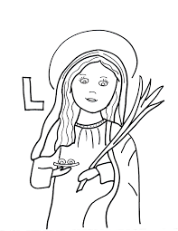 l is for st lucy saints to color