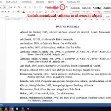 daftar pustaka merupakan format dari contoh dan cara menulis daftar pustaka yang baik dan benar karya tulis