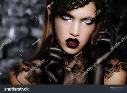 beautiful long dark hair black stock photo 500763202
