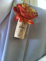 wedding flowers cork wine cork boutonniere wedding day cork boutonniere