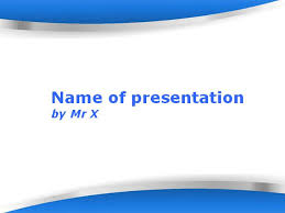 Blue Shapes Powerpoint Template Blue Ppt