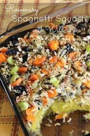 rosemary spaghetti squash rice easy peasy matters