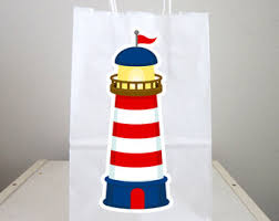 nautical gift bags nautical baby shower favor bags nautical birthday nautical