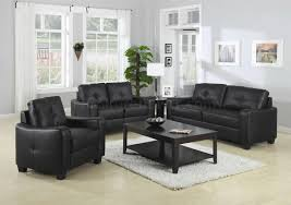 sofa match jasmine sofa in black bonded leather match 502721 by coaster