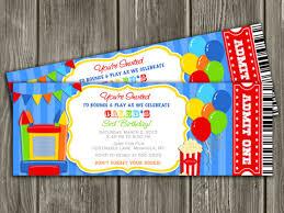 bounce house birthday invitations wblqual