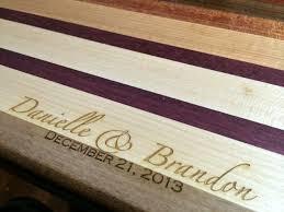 wedding gift engraving ideas wedding gifts mac cutting boards