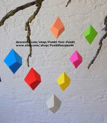 diy papercraft decor decoration origami gems wallart home design