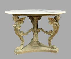 bronze neoclassical style stone top table daniel stein