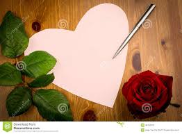leaf shaped writing paper valentine love heart shaped note with pen and rose stock photo royalty free stock photo