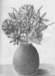 gallery easy flowers in vase drawings in pencil drawing art