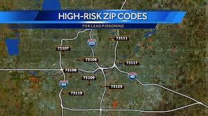 Map Of Las Vegas Zip Codes by Oklahoma Zip Codes Listed As High Risk For Lead Poisoning
