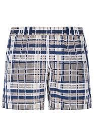 Gentlemen U0027s Club Sand Tartan Print Swim Shorts La Perla