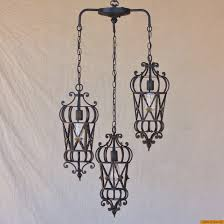 Wrought Iron Pendant Light Lights Of Tuscany 6173 3 Mediterranean Style Wrought Iron Pendant