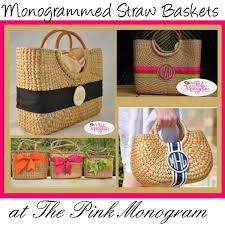 monogrammed basket 138 best monogrammed totes and purses images on bags