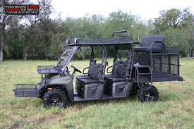 Utv Hunting Blind 2010 Polaris Crew With A Top Bench Seat Dog Cages Front Baskets