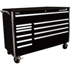 homak big dawg 60in 11 drawer tool cabinet u2014 black 60in w x