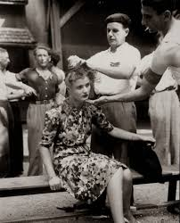 female punishment haircuts stories french female collaborator punished by having her head shaved to
