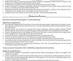 sample resume for qa tester qa tester video game resume