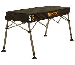 browning adjustable outfitter table sportsman u0027s warehouse