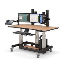 Sit Stand Office Desk Adjustable Height Radiology Imaging Workstation Afcindustries