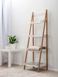 Leaning Shelf Bookcase Bookshelf Awesome Ladder Bookshelf White Awesome Ladder