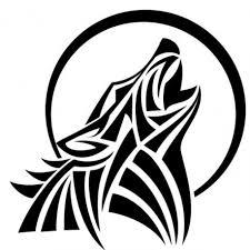 wolf tribal vinyl decal