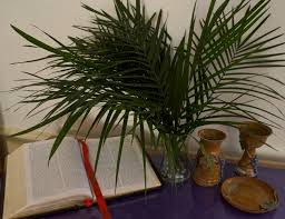 palms for palm sunday bible palms chalice and paten on the saturday afternoon before