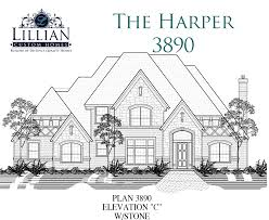 the harper bob white estates new home floor plan waxahachie tx