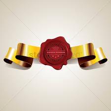Seal Ribbon Wax Seal With Ribbon Vector Image 1811538 Stockunlimited